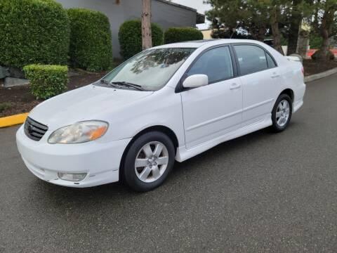 2003 Toyota Corolla for sale at SS MOTORS LLC in Edmonds WA