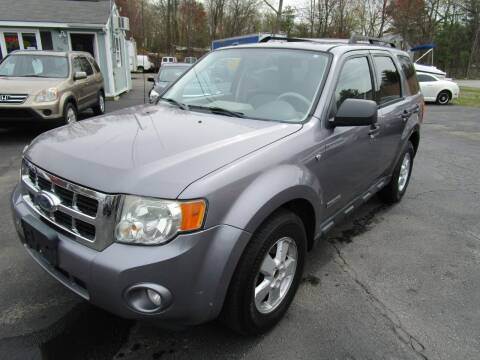 2008 Ford Escape for sale at Route 12 Auto Sales in Leominster MA