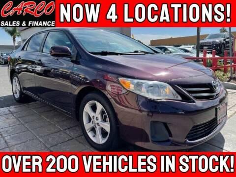 2013 Toyota Corolla for sale at CARCO SALES & FINANCE in Chula Vista CA