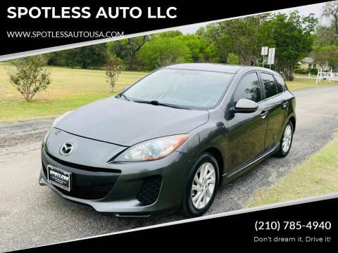 2012 Mazda MAZDA3 for sale at SPOTLESS AUTO LLC in San Antonio TX