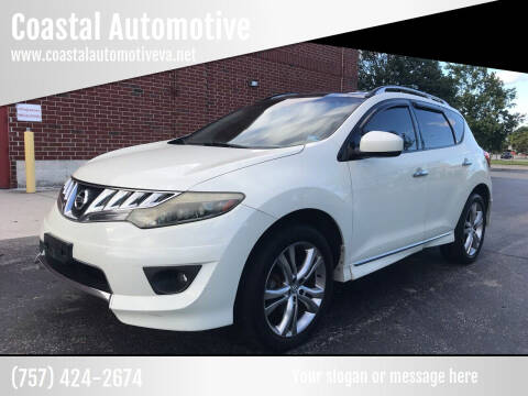 2009 Nissan Murano for sale at Coastal Automotive in Virginia Beach VA