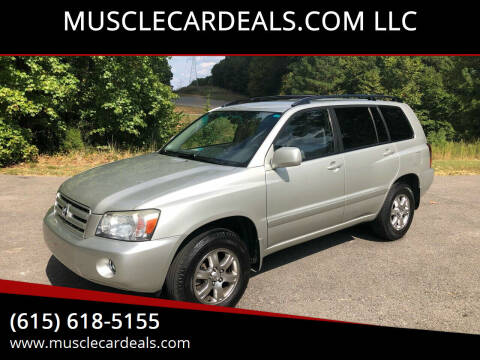 2005 Toyota Highlander for sale at MUSCLECARDEALS.COM LLC - 4 in White Bluff TN