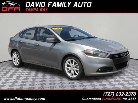 2013 Dodge Dart for sale at David Family Auto in New Port Richey FL