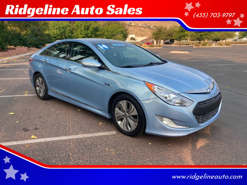 2014 Hyundai Sonata Hybrid for sale at Ridgeline Auto Sales in Saint George UT