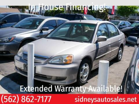 2003 Honda Civic for sale at Sidney Auto Sales in Downey CA