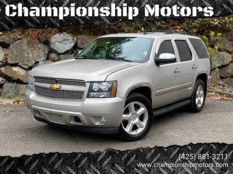 2008 Chevrolet Tahoe for sale at Championship Motors in Redmond WA