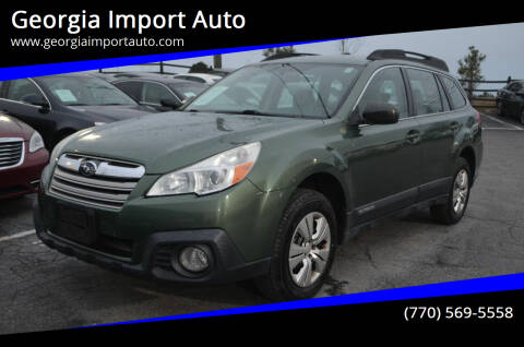 2013 Subaru Outback for sale at Georgia Import Auto in Alpharetta GA