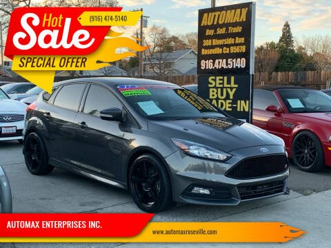 2017 Ford Focus for sale at AUTOMAX ENTERPRISES INC. in Roseville CA