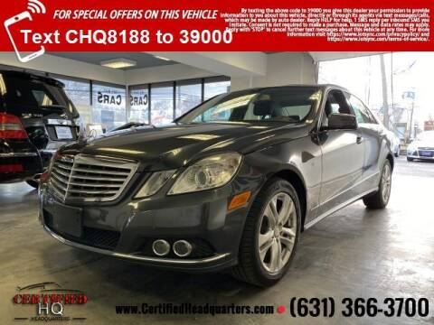 2011 Mercedes-Benz E-Class for sale at CERTIFIED HEADQUARTERS in St James NY