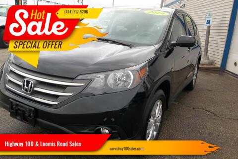 2014 Honda CR-V for sale at Highway 100 & Loomis Road Sales in Franklin WI