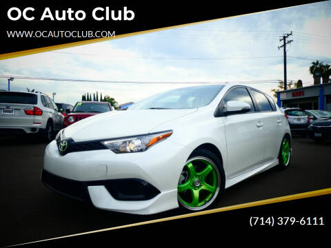 2017 Toyota Corolla iM for sale at OC Auto Club in Midway City CA