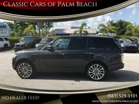 2014 Land Rover Range Rover for sale at Classic Cars of Palm Beach in Jupiter FL