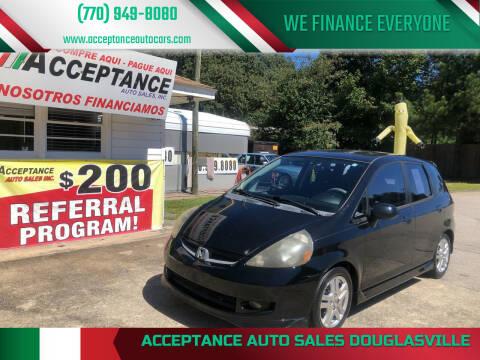 2007 Honda Fit for sale at Acceptance Auto Sales Douglasville in Douglasville GA