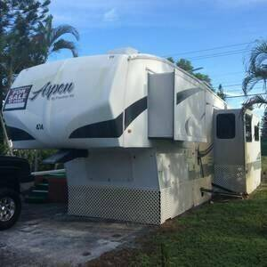 2008 FRONTIER ASPEN Fifth Wheel RV trailer for sale at Tropical Motors Cargo Vans and Car Sales Inc. in Pompano Beach FL