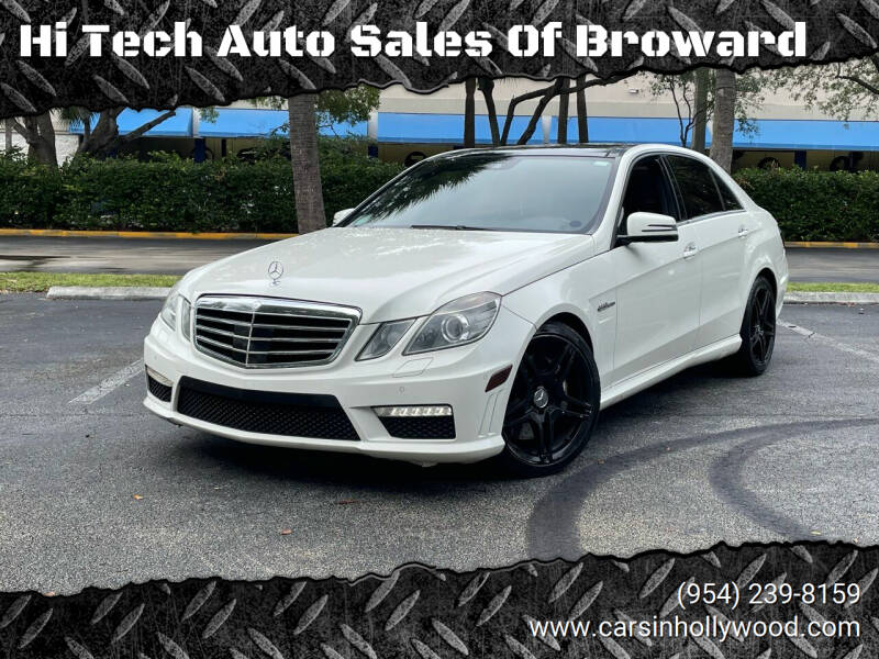 2010 Mercedes-Benz E-Class for sale at Hi Tech Auto Sales Of Broward in Hollywood FL