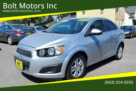 2015 Chevrolet Sonic for sale at Bolt Motors Inc in Davenport IA