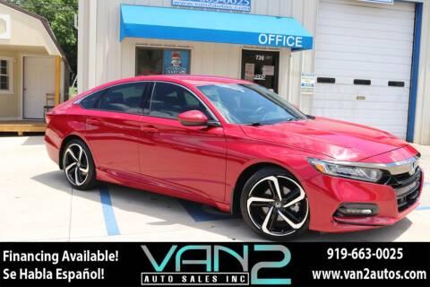 2018 Honda Accord for sale at Van 2 Auto Sales Inc in Siler City NC