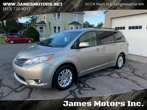 2017 Toyota Sienna for sale at James Motors Inc. in East Longmeadow MA