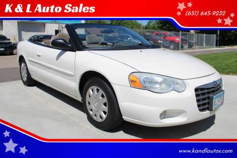 2006 Chrysler Sebring for sale at K & L Auto Sales in Saint Paul MN
