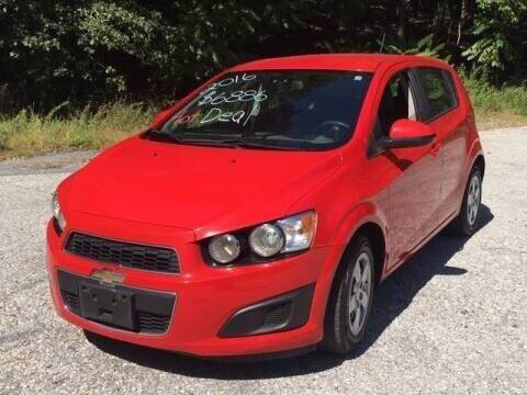 2016 Chevrolet Sonic for sale at Beaver Lake Auto in Franklin NJ