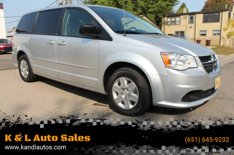 2012 Dodge Grand Caravan for sale at K & L Auto Sales in Saint Paul MN