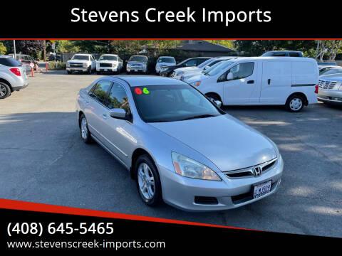 2006 Honda Accord for sale at Stevens Creek Imports in San Jose CA