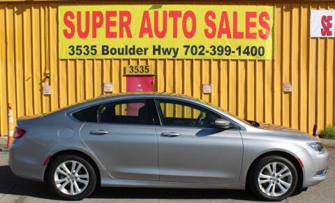 2016 Chrysler 200 for sale at Super Auto Sales in Las Vegas NV