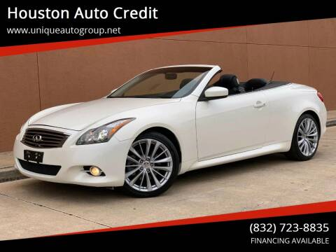 2015 Infiniti Q60 Convertible for sale at Houston Auto Credit in Houston TX