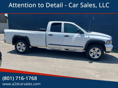 2002 Dodge Ram Pickup 1500 for sale at Attention to Detail - Car Sales, LLC in Ogden UT