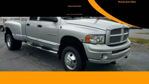 2005 Dodge Ram Pickup 3500 for sale at Moores Auto Sales in Greeneville TN