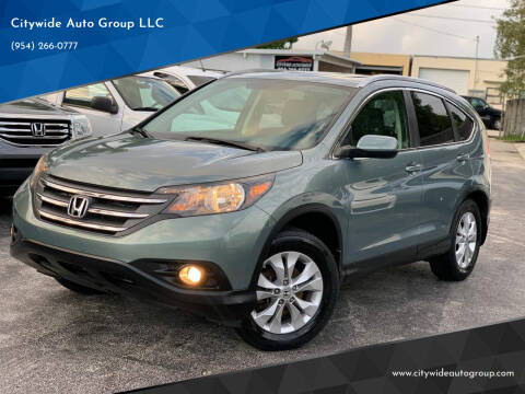2012 Honda CR-V for sale at Citywide Auto Group LLC in Pompano Beach FL