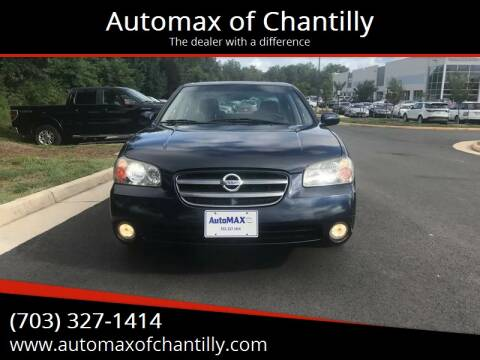 2002 Nissan Maxima for sale at Automax of Chantilly in Chantilly VA