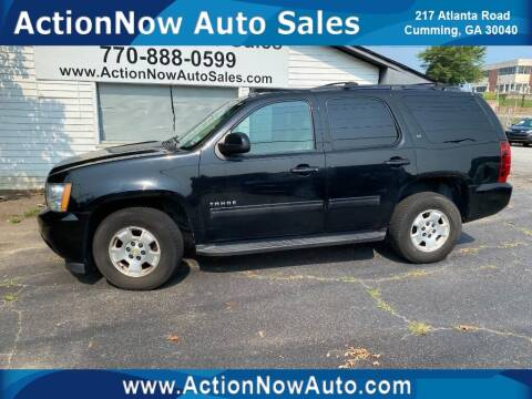 2012 Chevrolet Tahoe for sale at ACTION NOW AUTO SALES in Cumming GA
