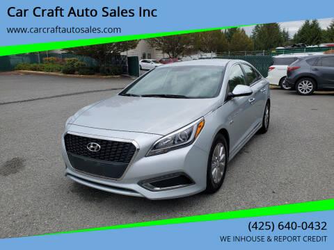 2017 Hyundai Sonata Hybrid for sale at Car Craft Auto Sales Inc in Lynnwood WA
