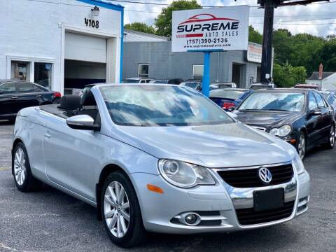 2009 Volkswagen Eos for sale at Supreme Auto Sales in Chesapeake VA