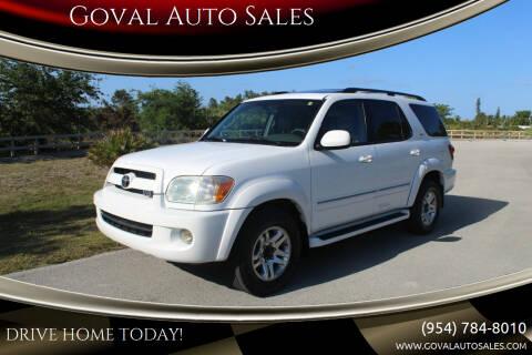 2007 Toyota Sequoia for sale at Goval Auto Sales in Pompano Beach FL