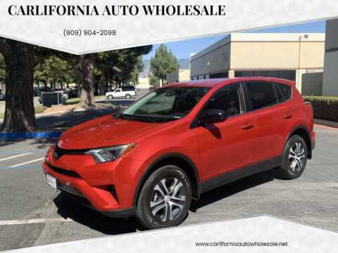 2017 Toyota RAV4 for sale at CARLIFORNIA AUTO WHOLESALE in San Bernardino CA