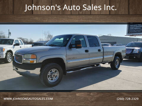 2002 GMC Sierra 2500HD for sale at Johnson's Auto Sales Inc. in Decatur IN