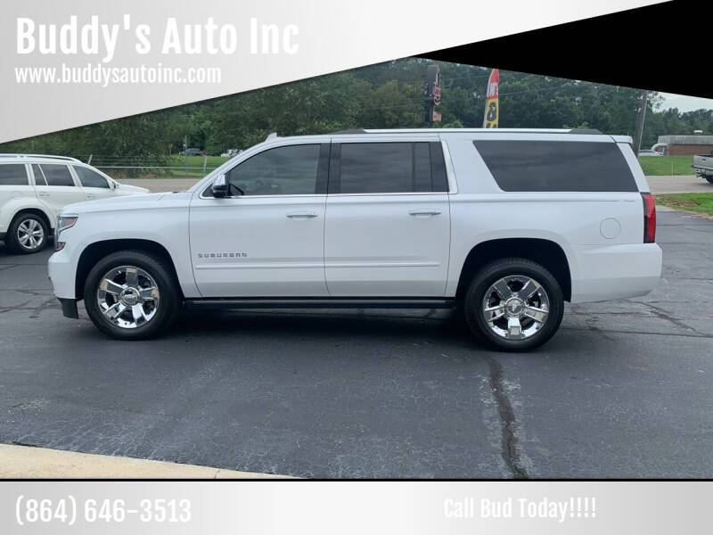 2017 Chevrolet Suburban for sale at Buddy's Auto Inc in Pendleton, SC