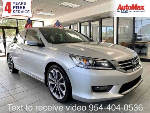 2014 Honda Accord for sale at Auto Max in Hollywood FL