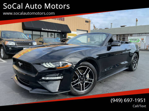 2018 Ford Mustang for sale at SoCal Auto Motors in Costa Mesa CA