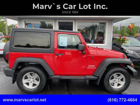 2012 Jeep Wrangler for sale at Marv`s Car Lot Inc. in Zeeland MI