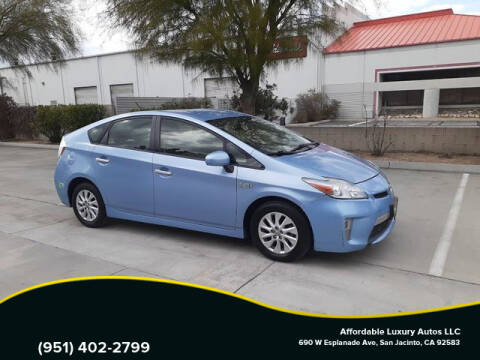 2013 Toyota Prius Plug-in Hybrid for sale at Affordable Luxury Autos LLC in San Jacinto CA