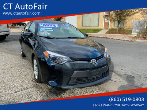 2016 Toyota Corolla for sale at CT AutoFair in West Hartford CT