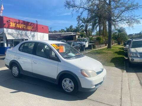 2001 Toyota ECHO for sale at 3K Auto in Escondido CA