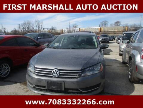 2013 Volkswagen Passat for sale at First Marshall Auto Auction in Harvey IL