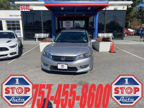 2013 Honda Accord for sale at 1 Stop Auto in Norfolk VA