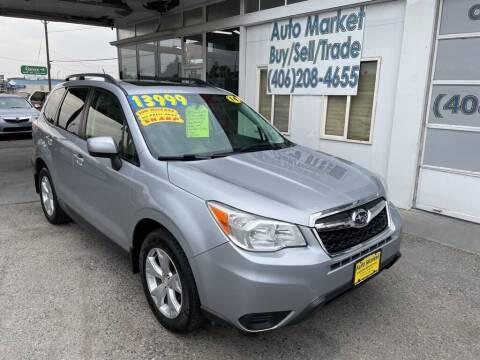 2014 Subaru Forester for sale at Auto Market in Billings MT