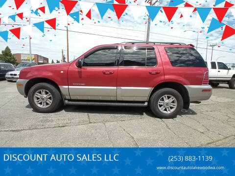 2002 Mercury Mountaineer for sale at DISCOUNT AUTO SALES LLC in Lakewood WA