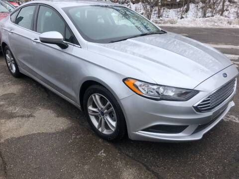 2018 Ford Fusion for sale at Matt Jones Preowned Auto in Wheeling WV